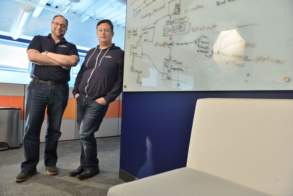 Middle-agers Tomas Revesz and Seth Birnbaum, EverQuote cofounders, are proof that high-tech, Kendall Square-based startups are not just for the young. Their auto insurance shopping site is geared to consumers 30 and older, the people most likely to buy car insurance.