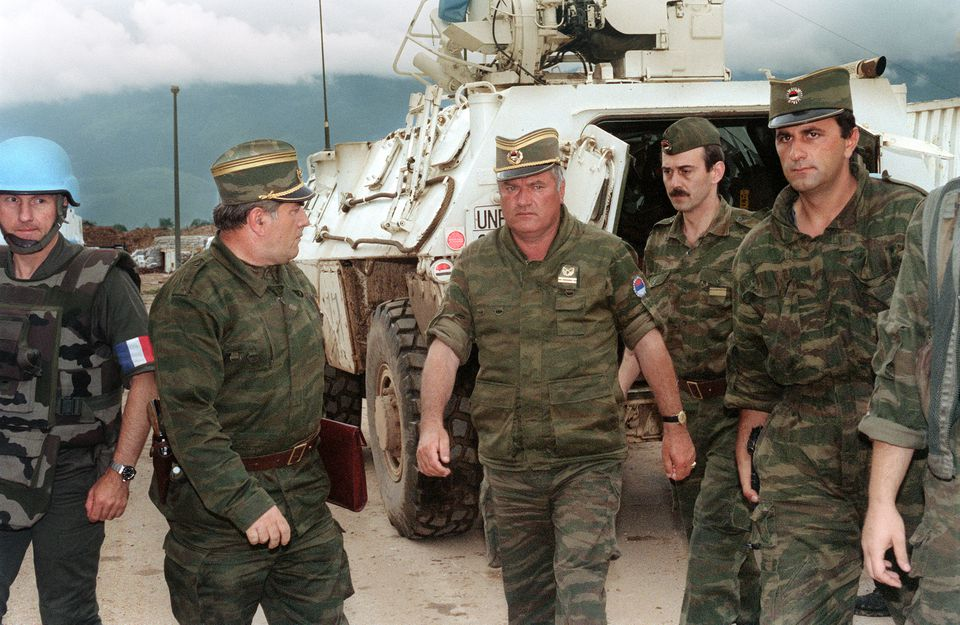 """A scene from """"The Trial of Ratko Mladic."""""""