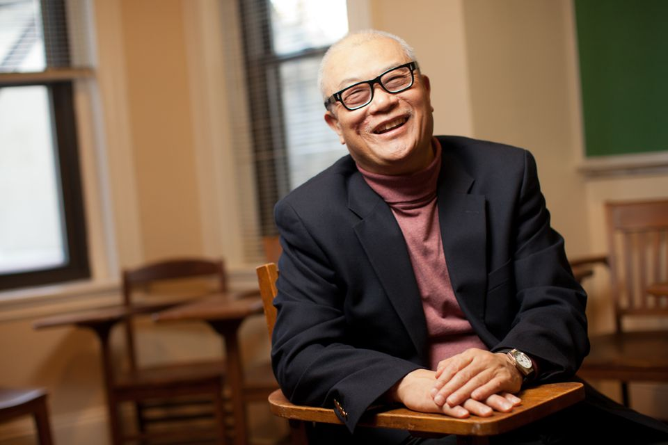 Author Ha Jin teaches at Boston University. He writes his outlines for novels during the summer when he has more time.
