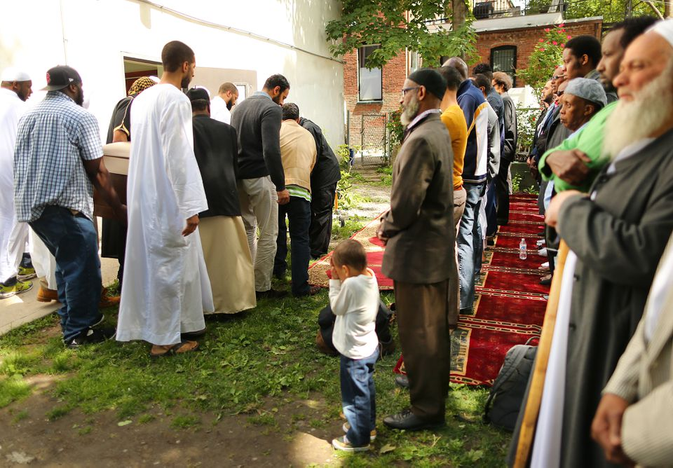 About 200 mourners attended the service at the Mosque for the Praising of Allah.