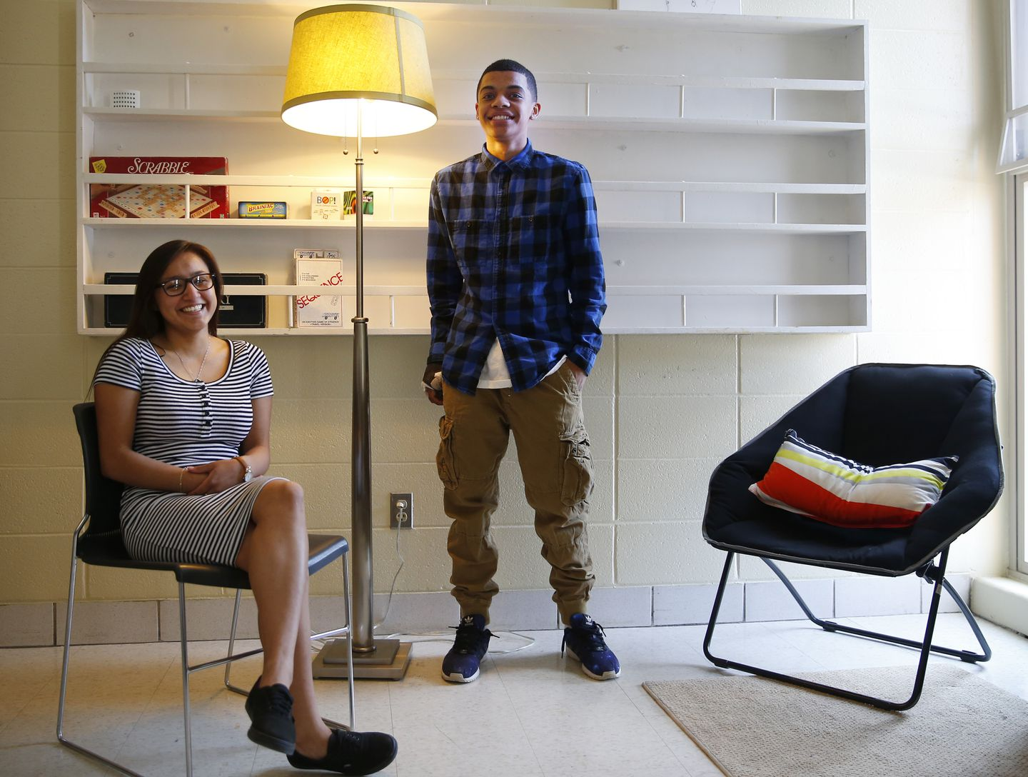 Jasmin Duarte and Wellington Vasquez have benefited from an Assabet Valley Regional High School program offering mental and emotional support.