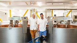 Jasper Hill Farm, owned by Andy (left) and Mateo Kehler, is starting to turn out even more of its high-quality cheeses, thanks to several copper-lined vats from France.