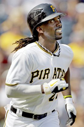 Andrew McCutchen warmed up for the Home Run Derby with two two-run shots.