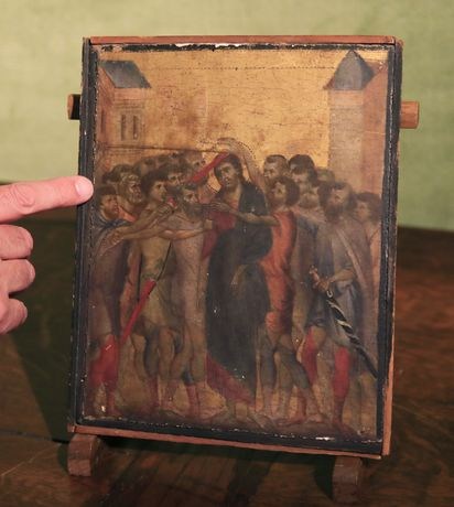 Image result for Cimabue painting found in French kitchen sets auction record