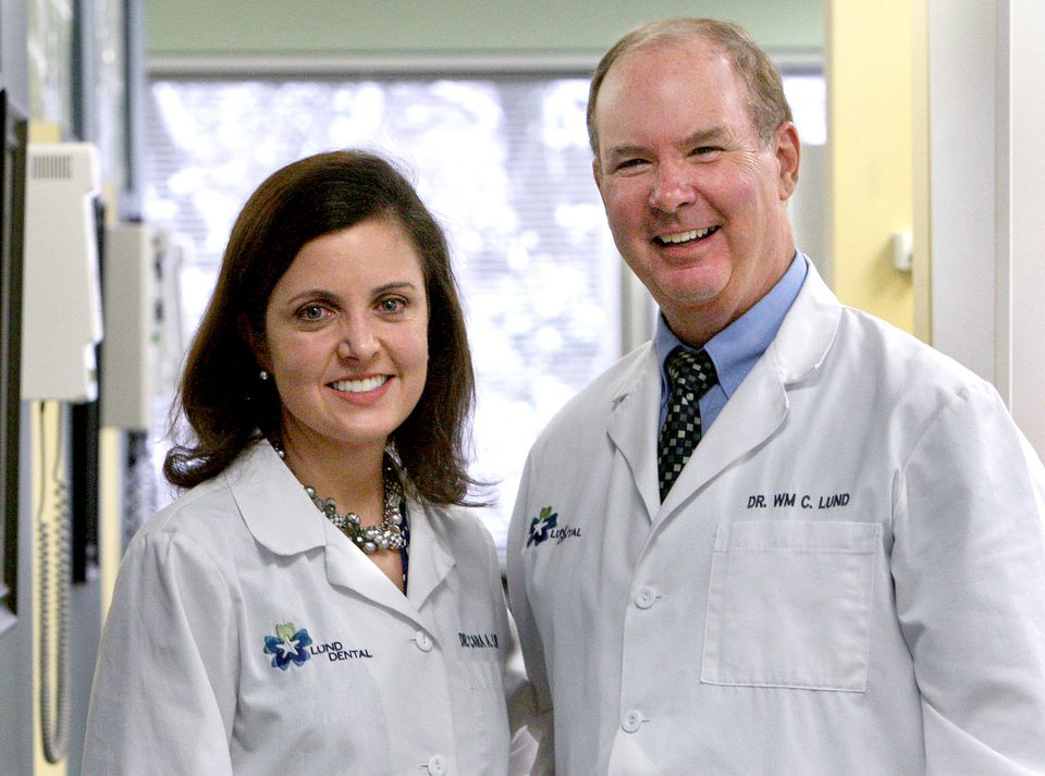 Dr. Cara Lund and her father, Dr. William Lund, practice in Stoneham. Anticipating the financial impact of Delta Dental's new coverage options, they have canceled a planned renovation of their office.