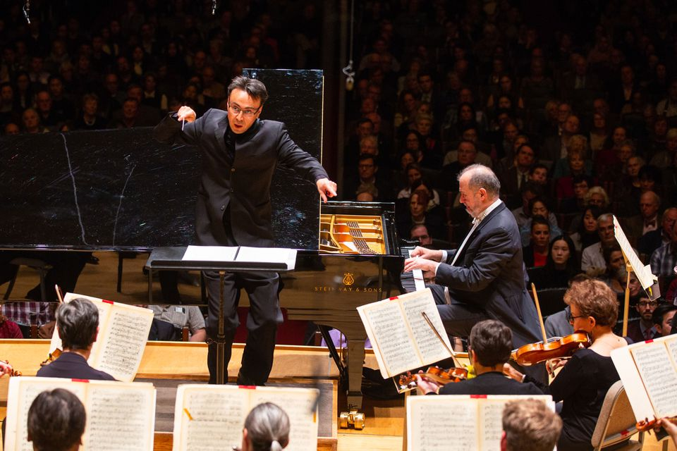Ken-David Masur led the BSO and pianist Garrick Ohlsson Thursday.