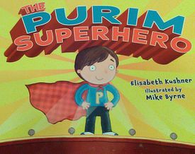 """""""The Purim Superhero"""" tells the story of a boy conflicted over his choice of a costume for his school's Purim festival. He goes to his two fathers for advice."""