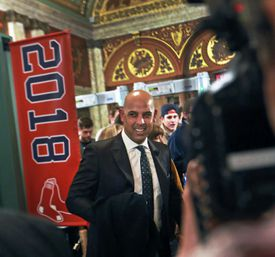"""Alex Cora attended the premiere of """"The 2018 World Series: Damage Done"""" documentary at the Emerson Colonial Theatre."""