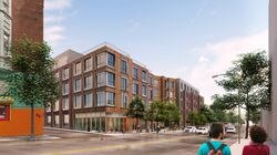A rendering of Pine Street Inn's project at 3368 Washington St. in Jamaica Plain.