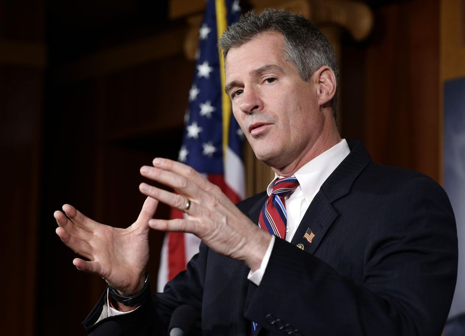 Scott Brown, seen in a photo from November 2012 when he was a US senator, will not run for governor of Massachusetts.