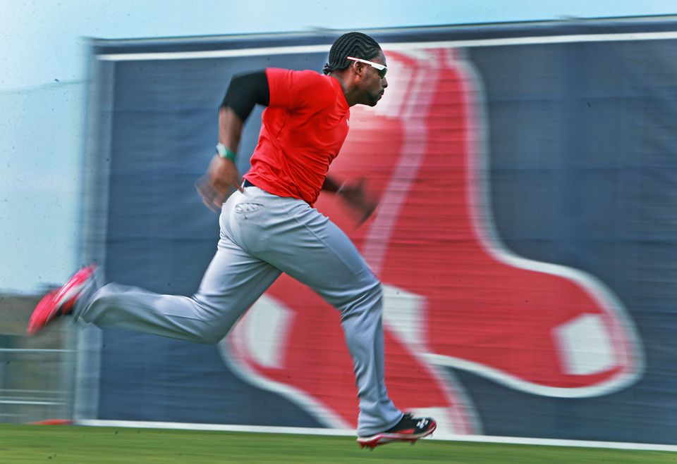 Jackie Bradley Jr. says the competitiveness of the testing kept it fun.