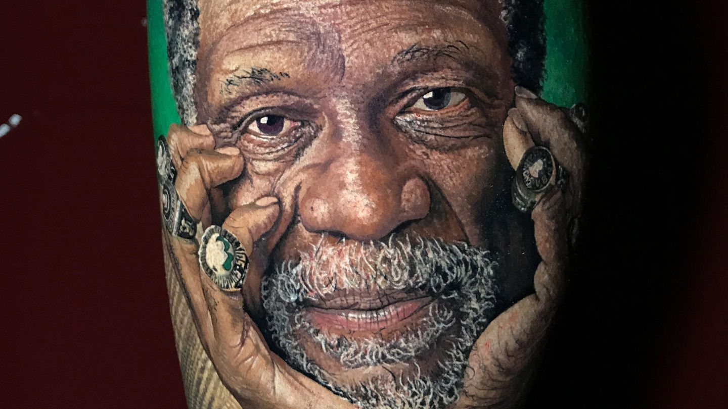 18e81b980556 There s quite a story behind this Celtics fan s Bill Russell tattoo ...