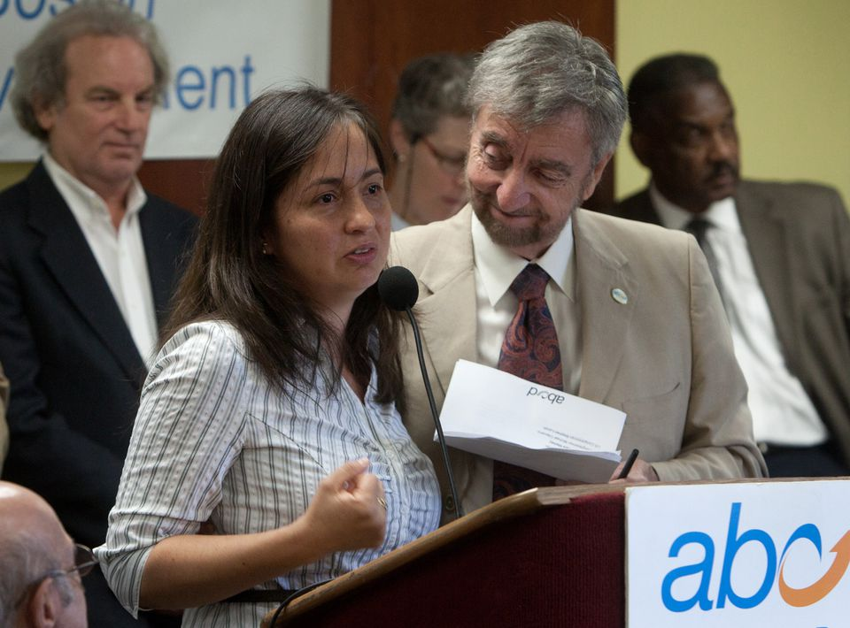 Paola Garcia, a mother at Action for Boston Community Development's Head Start program, spoke about how the US government shutdown is affecting low-income people.