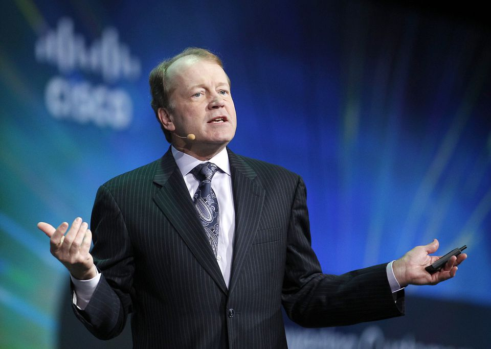 CEO John Chambers was pressured by investors and had a compensation package that included incentives to boost Cisco's stock prices.