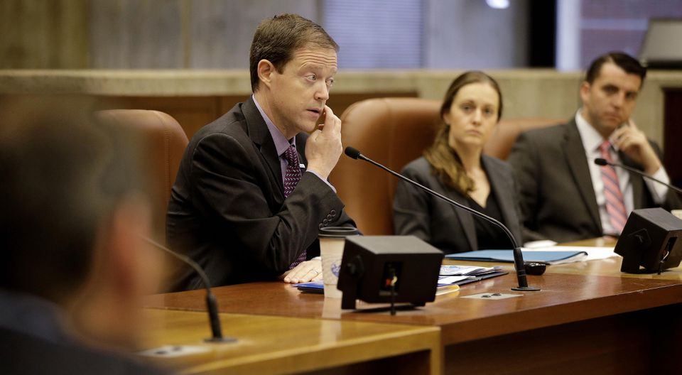 Boston 2024 CEO Richard Davey appeared before a special city council committee hearing on the Olympic bid.