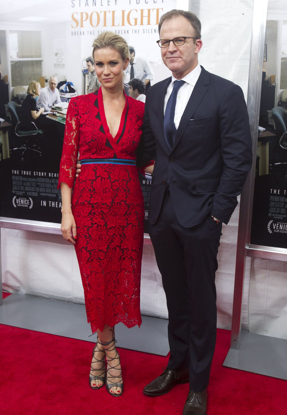 Director and cowriter Tom McCarthy (right) with his wife, Wendy Merry McCarthy.