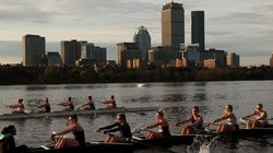 The Radcliffe heavyweight crew got in some training Thursday for the Head of the Charles.