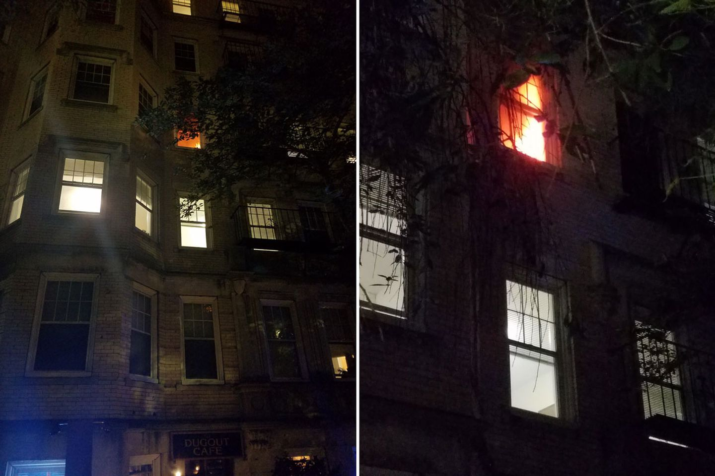 Flames Shot Through A Window Of The 722 Commonwealth Ave Building On Saay