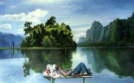 "Shay Kun's oil on canvas ""Austerity.''"
