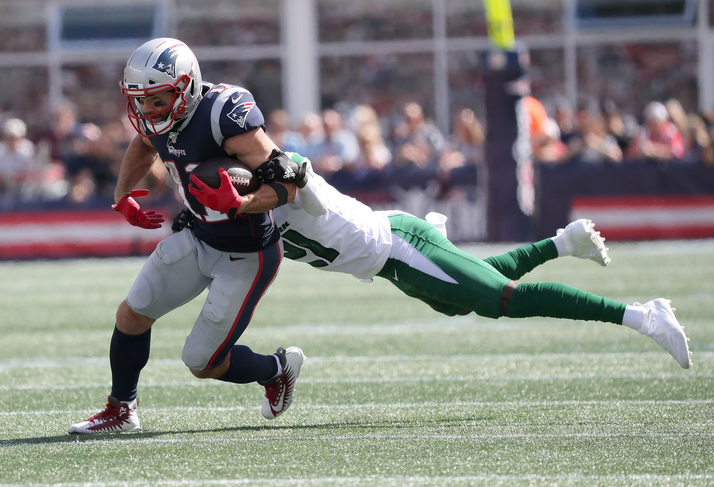 Julian Edelman Out Vs Jets With Chest Injury The Boston Globe