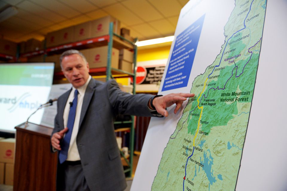 Bill Quinlan, president of Eversource Operations in New Hampshire, presented plans for the Northern Pass project in August.