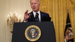 President Biden announced new economic sanctions against the Russian government from the East Room of the White House on Thursday in Washington, D.C.