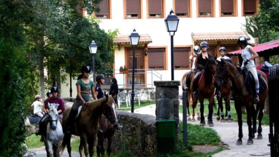Hotel Charle, a hotel in ski season, is the inn for the equestrian campers at Pirineos Ecuestre, outside Jaca in the Spanish Pyrenees.