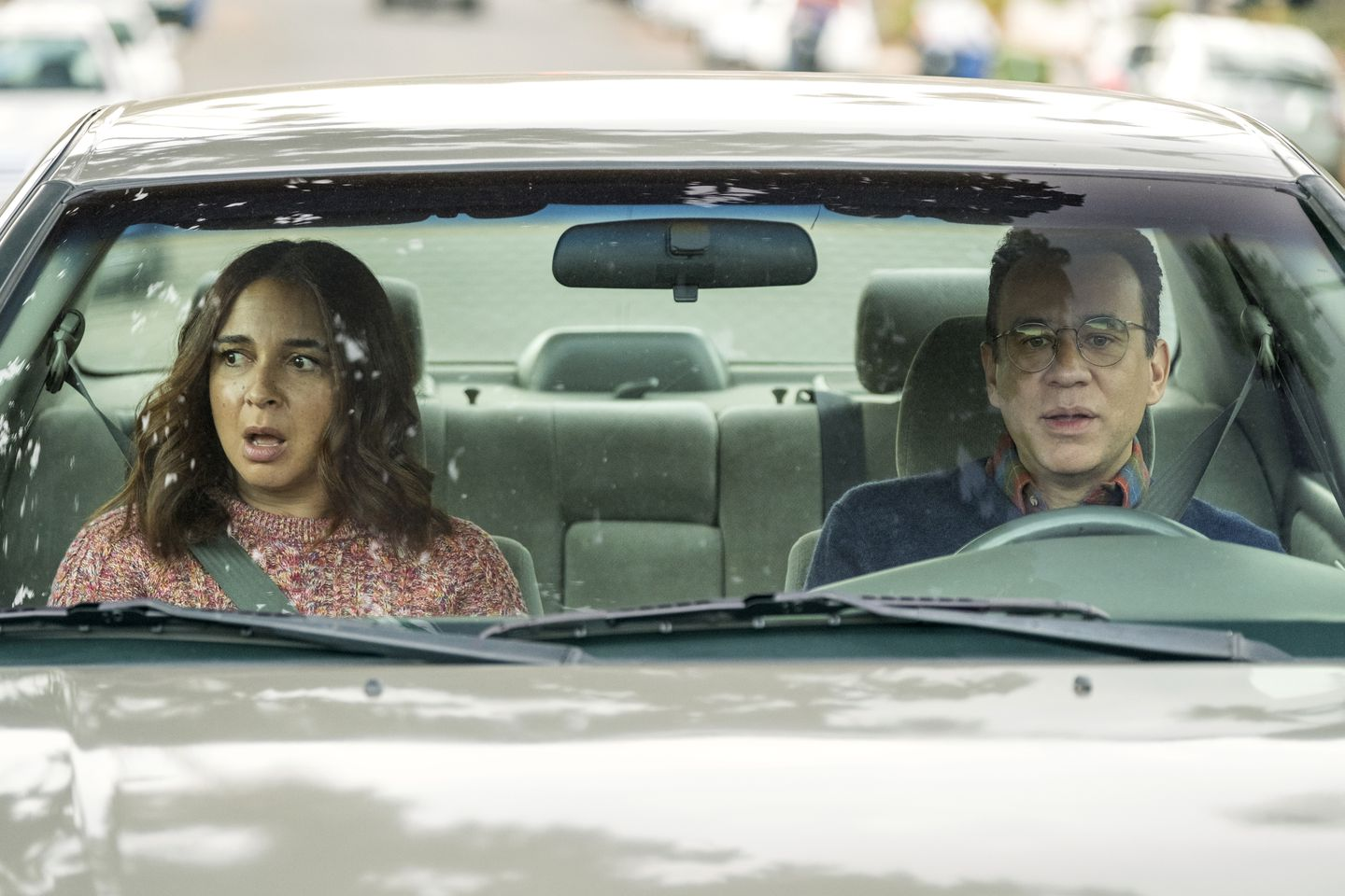 """Maya Rudolph and Fred Armisen in Amazon's """"Forever."""""""
