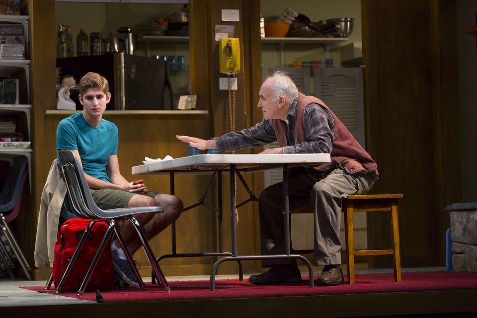 """Stephan Amenta (left) and Jeffrey DeMunn in Williamstown Theatre Festival's production of """"A Great Wilderness."""""""