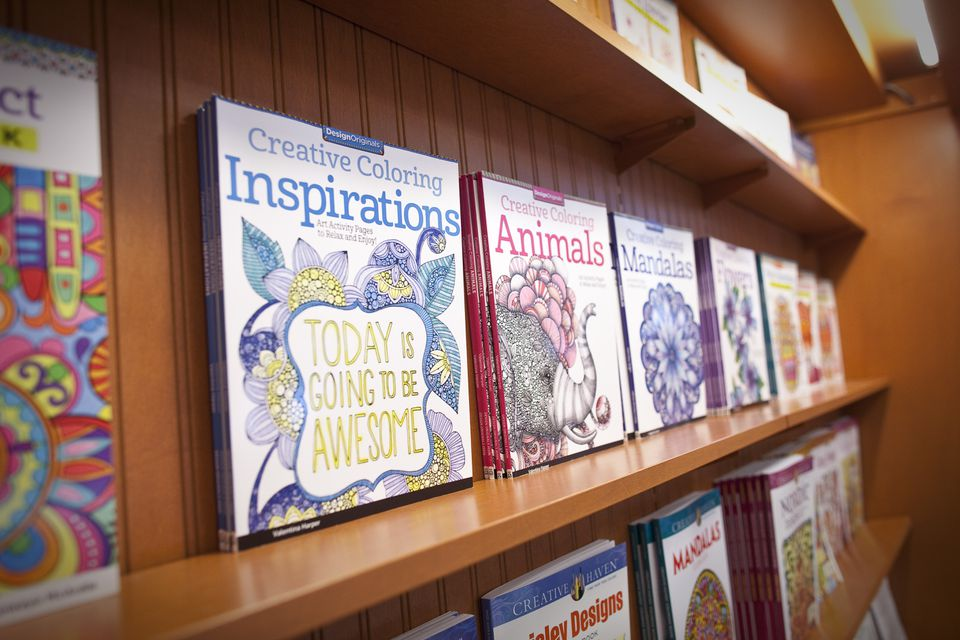 Examples of the coloring books that are available.