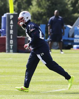 The Patriots don't have Darrelle Revis matching up with any one receiver during practice.