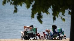 Beachgoers relaxed at Carson Beach in Boston a few weeks ago. Except for those right on the water next week, temperatures could shoot into the 90s.