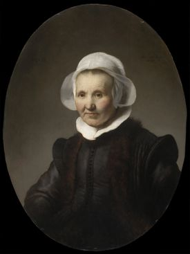 """Portrait of Aeltje Uylenburgh"" by Rembrandt, from the van Otterloo collection."