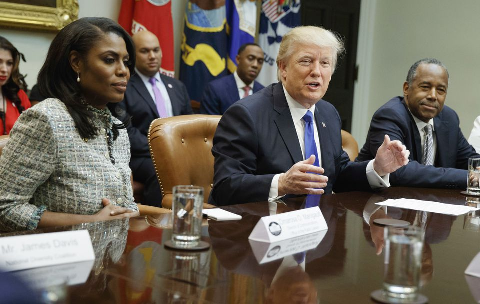 President Donald Trump was seen with Omarosa Manigault Newman.