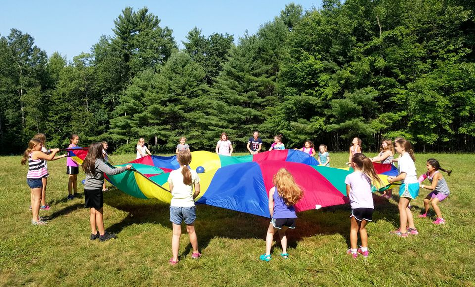 Campers enjoy the sunshine and fresh air at Camp Runels in Pelham, N.H.