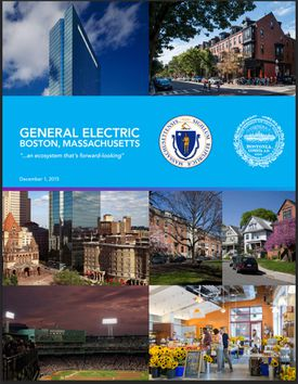 Cover of proposal from the City of Boston and state to encourage General Electric to move to the city.