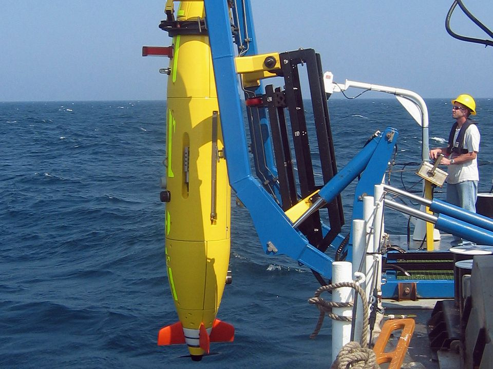 Researchers deployed a Hydroid vehicle.