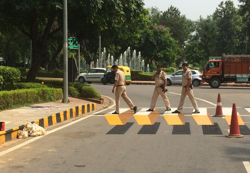 In New Delhi, India, 3-D crosswalks have gotten drivers to slow down and pay better attention.