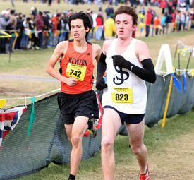 Tristan Shelgren and Andrew Mah finished first and second, respectively, at the All-State meet.