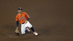 Second baseman Jose Altuve was one of five Astros placed on the COVID-19 protocol injured list.