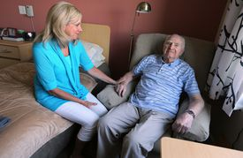 Shelley Diffily didn't want to see her 95-year-old father, Lou Sanders, in a traditional nursing home.