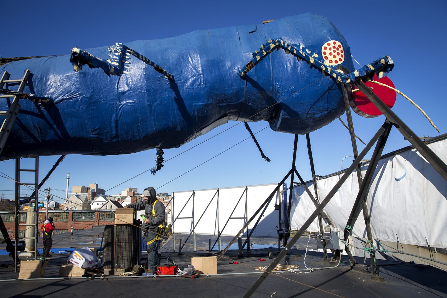 How A Giant Blue Termite Became The Symbol Of Christmas Cheer In Rhode Island The Boston Globe