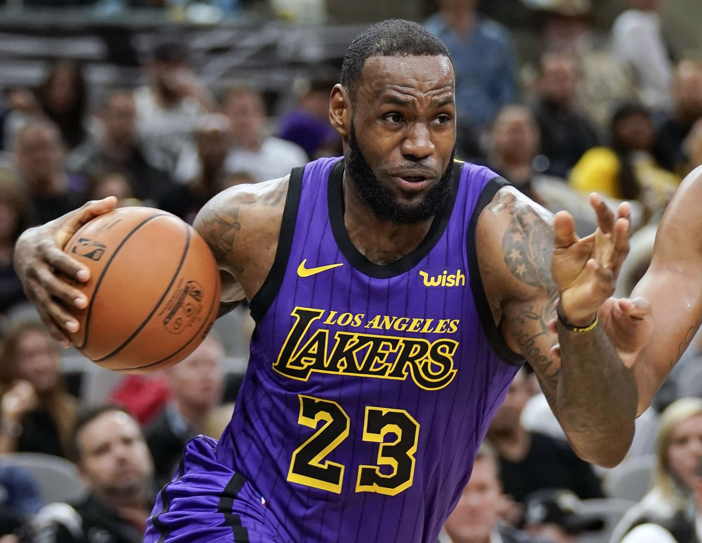179cfbe24d20 Lakers forward LeBron James was named AP Male Athlete of the Year for the  third time