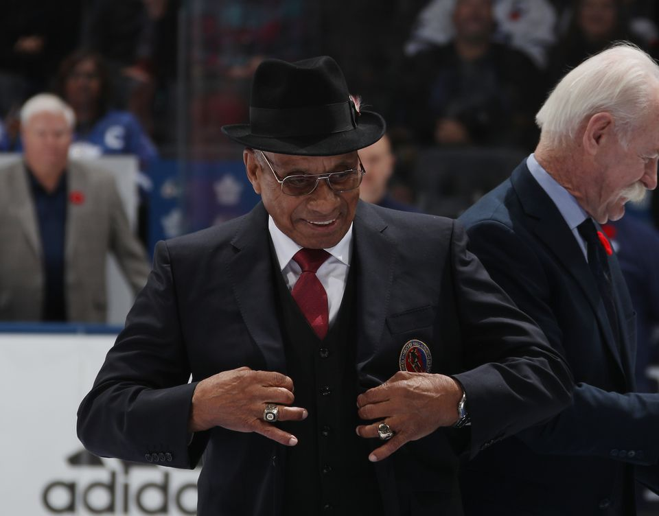 Willie O'Ree was inducted into the Hockey Hall of Fame in November.