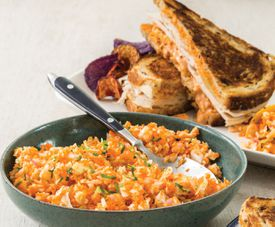 Turkey Reuben Sandwiches and Tangy-Sweet Carrot and Cabbage 'Slaw,' The Cupboard Cafe-Style.