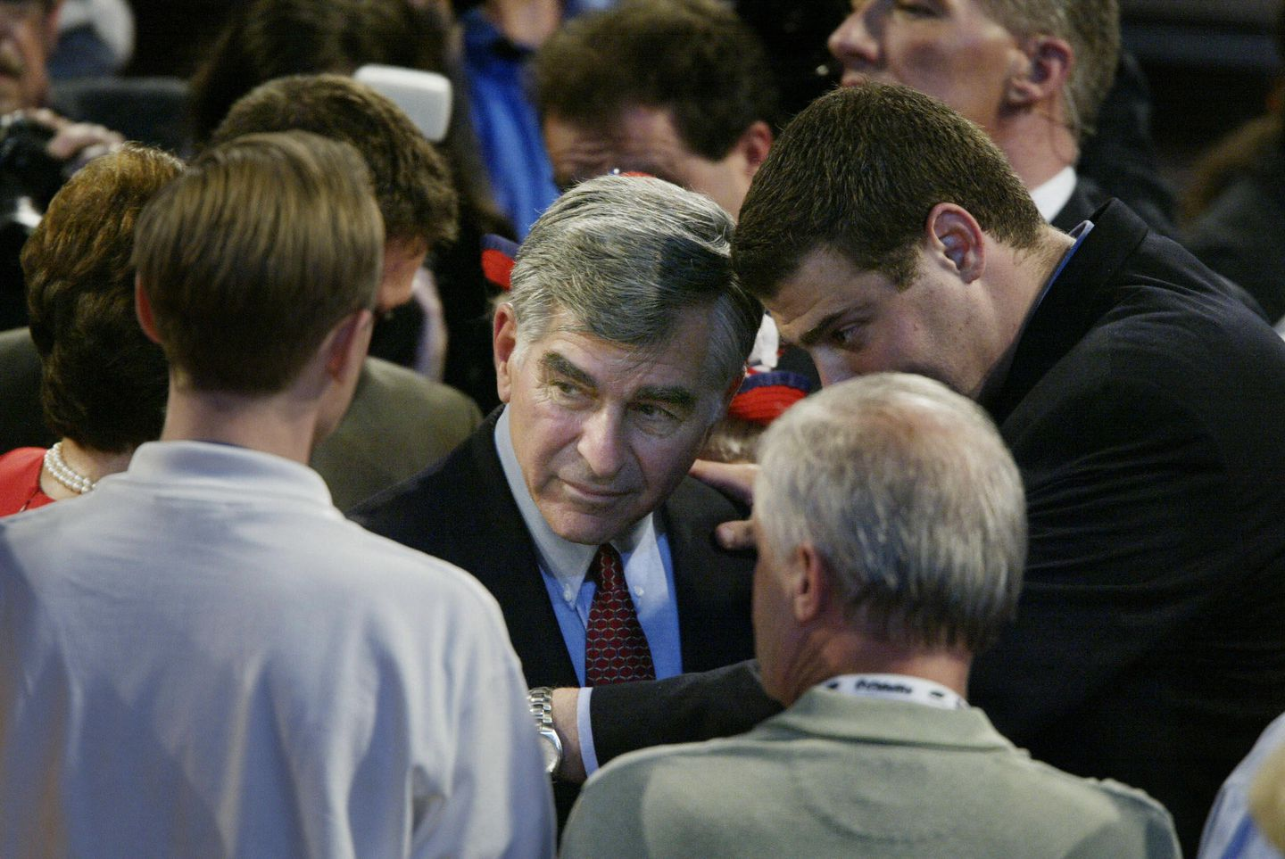 Will 2020 shake out like earlier big Democratic fields in 1988 and 2004? Here, 1988 nominee Michael Dukakis appears at the 2004  convention.