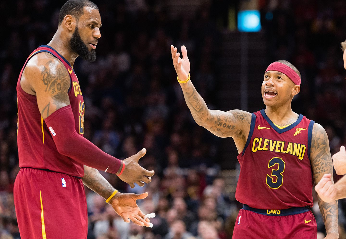 39b44cfe8f81 Things weren t working out between LeBron James (left) and Isaiah Thomas in