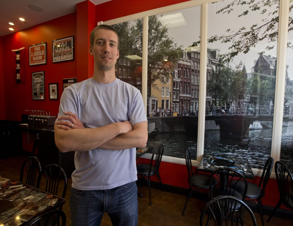 Matt D'Alessio is the owner of Amsterdam Falafelshop, which makes falafel that can be eaten with a variety of toppings.