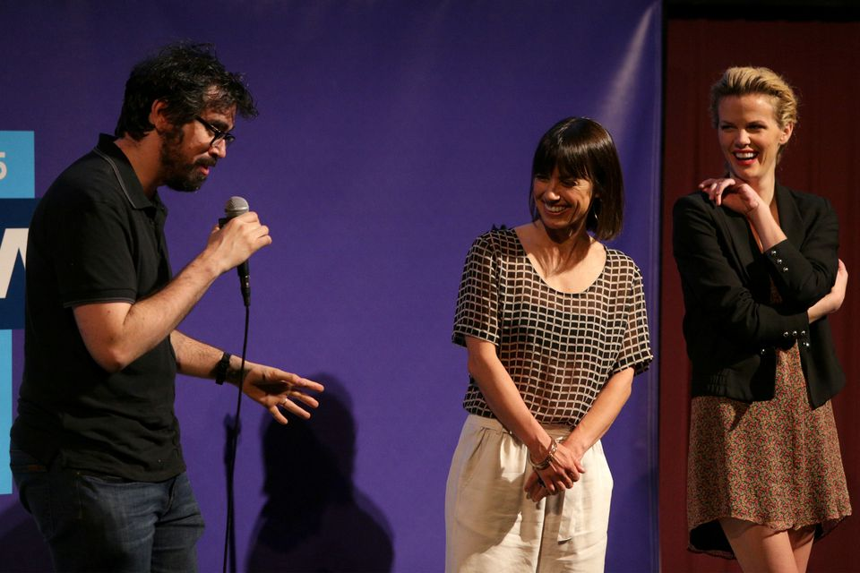 From left: Andrew Bujalski, Constance Zimmer, and Brooklyn Decker.