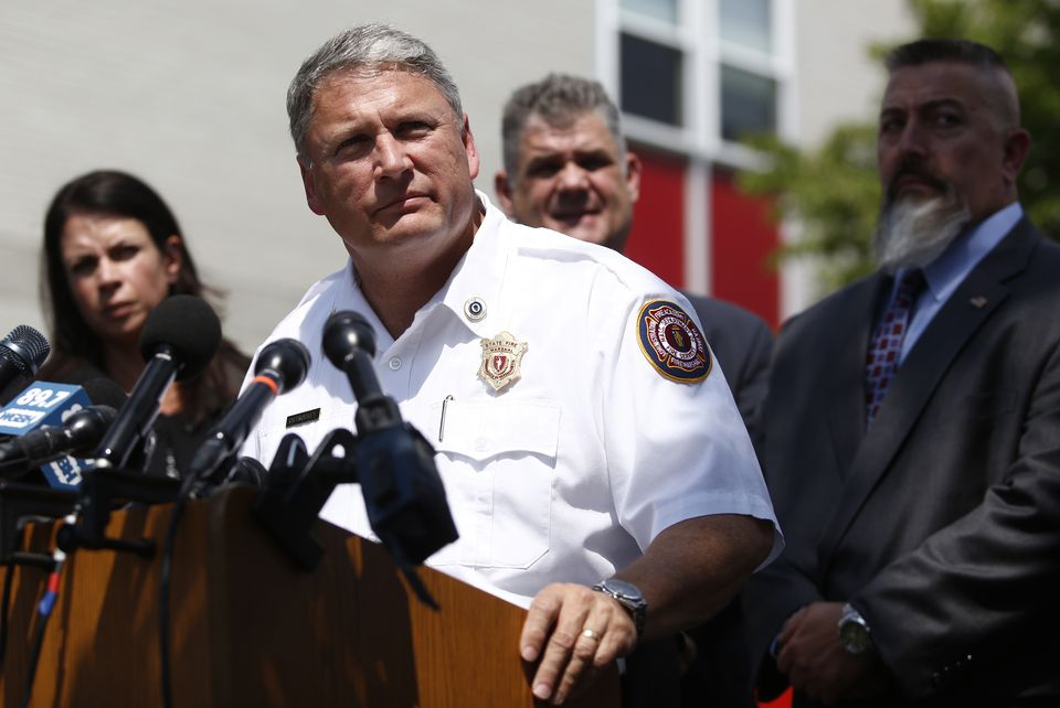 State Fire Marshal Peter J. Ostroskey announced that arson was the cause of the 10-alarm fire at 20 Cooper Street. in Waltham.